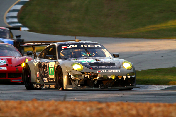 Despite the damage from a late collision, Tandy drove a stunning two-hour stint.
