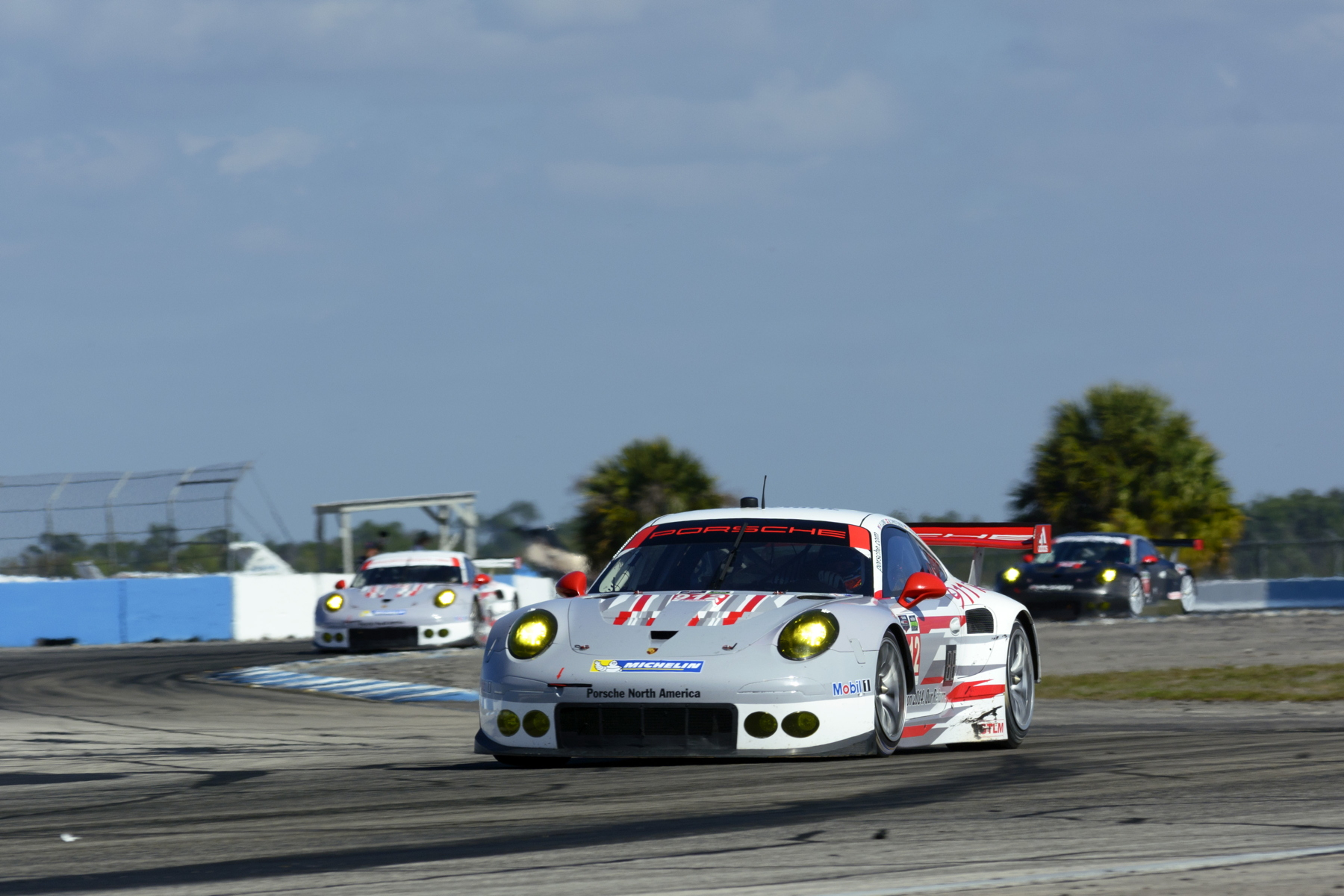 Porsche took a 1-2 in the Sebring Winter Tests in February.