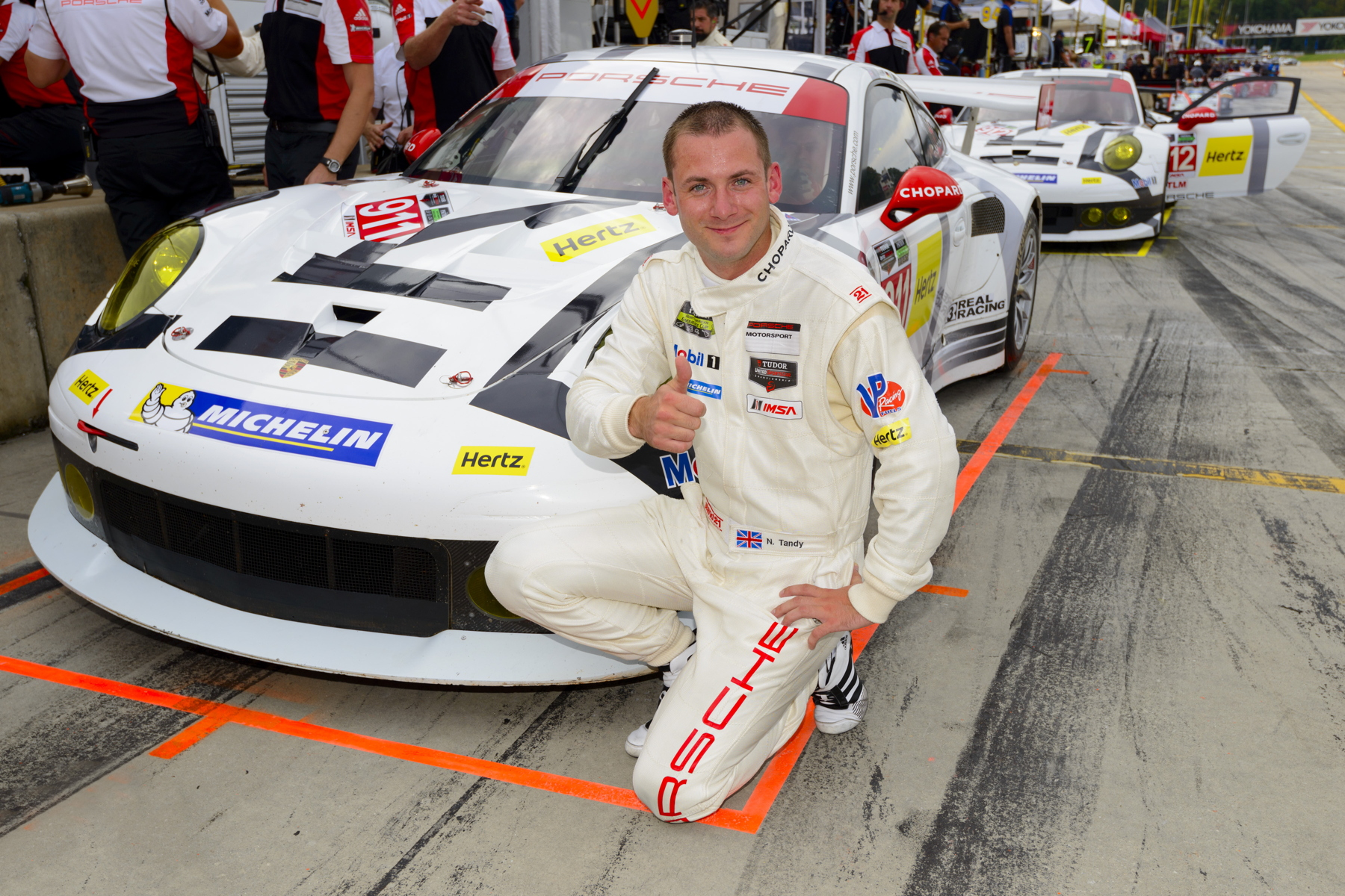 Nick Tandy converted Porsche's strong Road Atlanta pace into pole position for the ten-hour race.