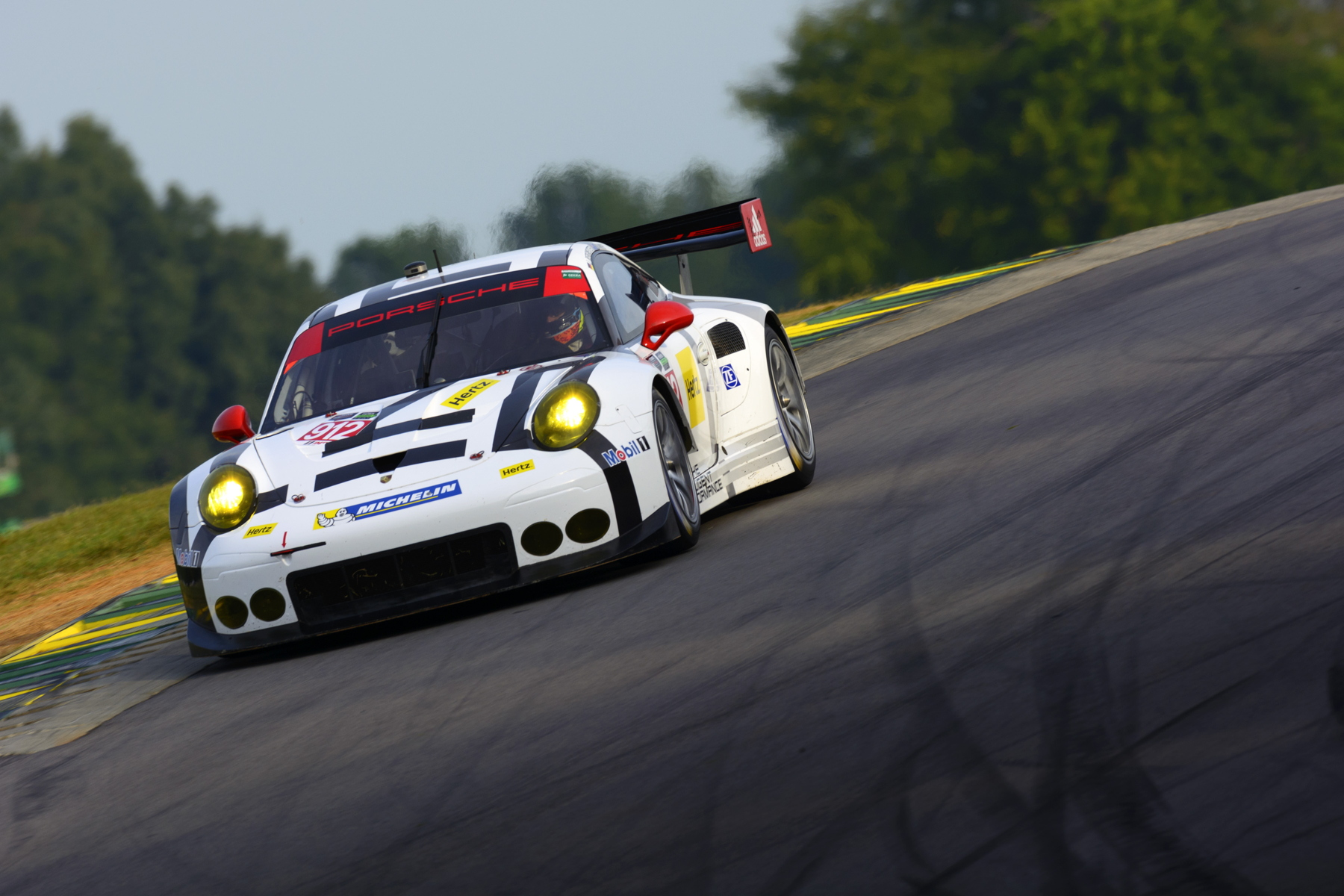 Earl Bamber and Jörg Bergmeister had to settle for their third second-place finish of 2015 at Virginia International Raceway.