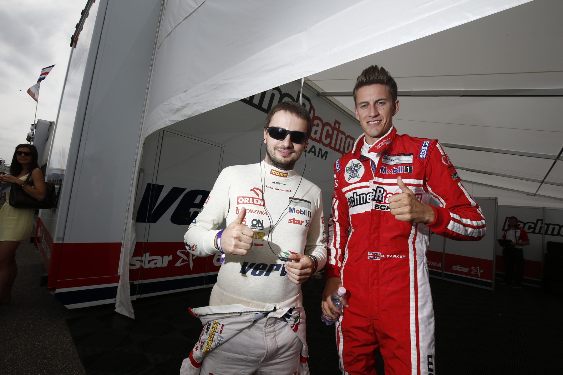 Ben Barker (right) is confident of a podium finish while teammate, Kuba Giermaziak (left) needs a strong Monza result in the chase for the championship.