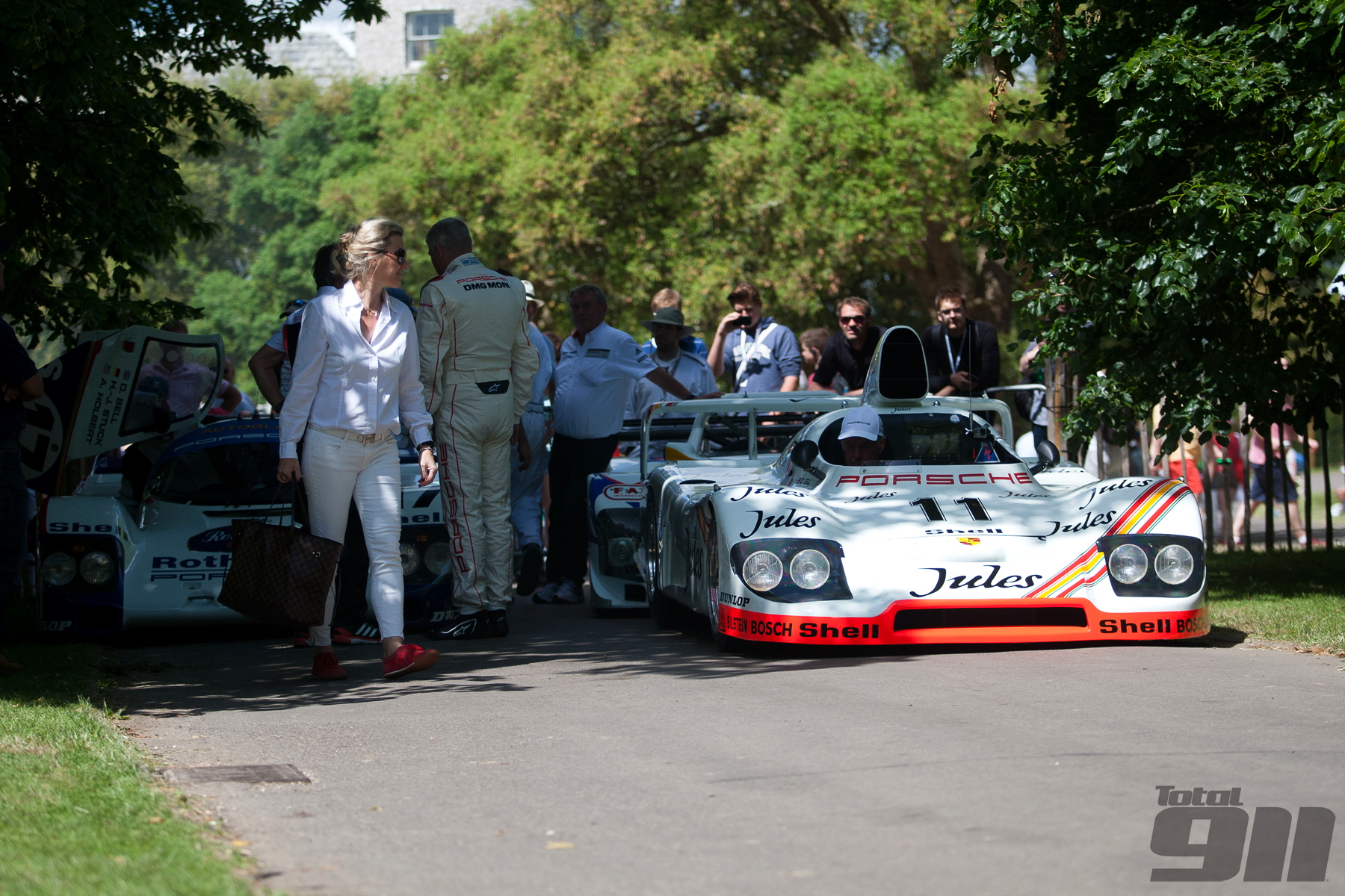 A seldom seen sight outside the Porsche Museum, the 1981 Porsche 936 that won that year's 24 Hours of Le Mans.
