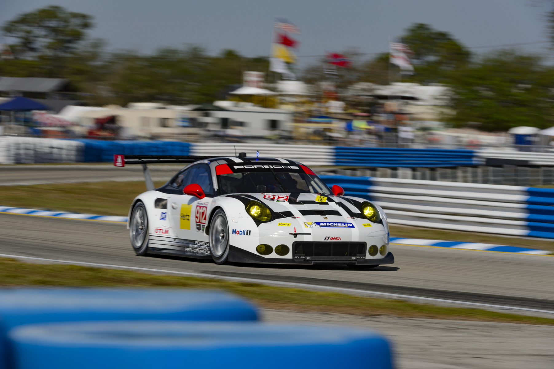Friday practice saw the no. 912 machine set the faster time of the two 911 RSRs however, the no. 911 car has been on a roll in qualifying.